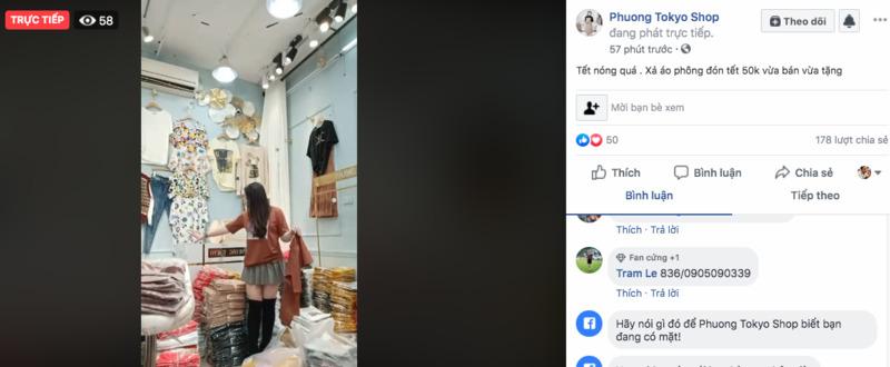 bí quyết livestream bán quần áo trên facebook