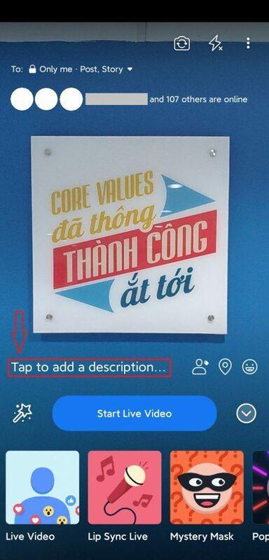 cách livestream trên facebook bằng điện thoại